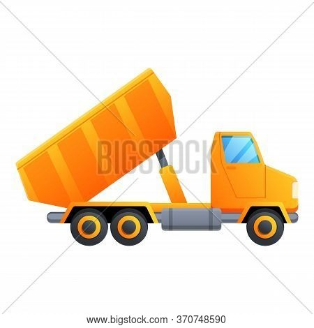 Lorry Truck Icon. Cartoon Of Lorry Truck Vector Icon For Web Design Isolated On White Background