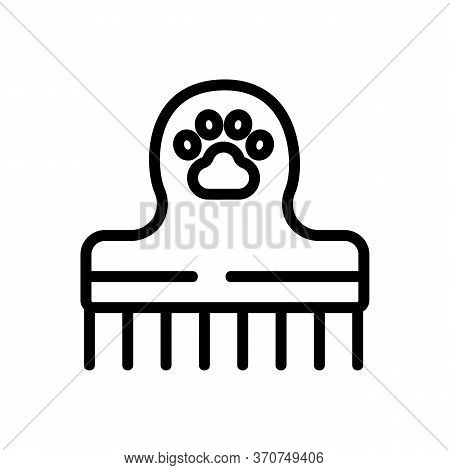 Pet Comb Icon Vector. Pet Comb Sign. Isolated Contour Symbol Illustration