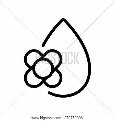 Canola Oil Drop Icon Vector. Canola Oil Drop Sign. Isolated Contour Symbol Illustration