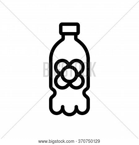 Canola Oil Plastic Bottle Icon Vector. Canola Oil Plastic Bottle Sign. Isolated Contour Symbol Illus