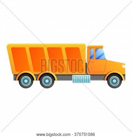 Cargo Tipper Icon. Cartoon Of Cargo Tipper Vector Icon For Web Design Isolated On White Background