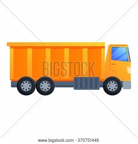 Commercial Tipper Icon. Cartoon Of Commercial Tipper Vector Icon For Web Design Isolated On White Ba