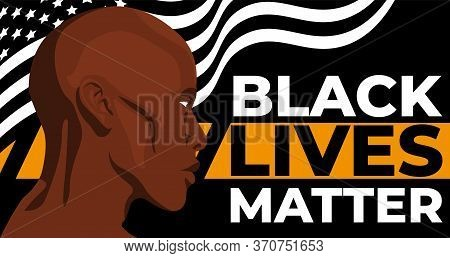 Black Lives Matter. Statement. Young African Americans: Man. Black Citizens Are Fighting For Equalit