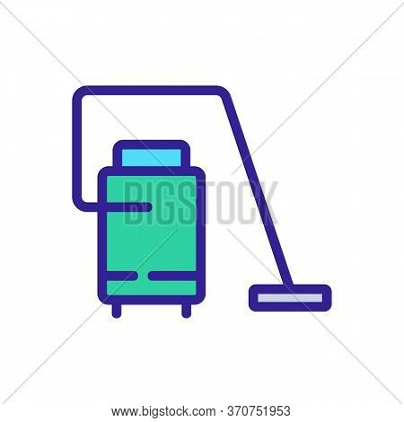 Wet Vacuum Cleaner Appliance Icon Vector. Wet Vacuum Cleaner Appliance Sign. Isolated Color Symbol I