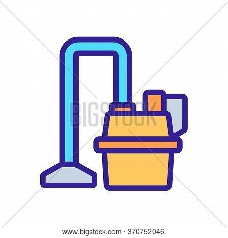 Wet Vacuum Cleaner Wash Floor Tool Icon Vector. Wet Vacuum Cleaner Wash Floor Tool Sign. Isolated Co