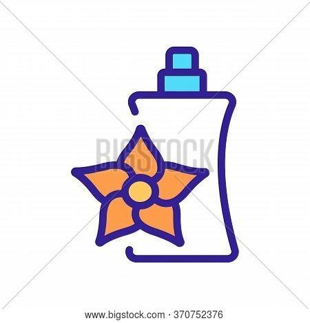 Vanilla Perfume Icon Vector. Vanilla Perfume Sign. Isolated Color Symbol Illustration