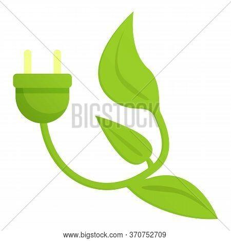 Eco Plug Icon. Cartoon Of Eco Plug Vector Icon For Web Design Isolated On White Background