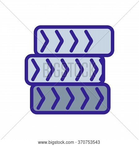 Wheels Heap On Paintball Track Icon Vector. Wheels Heap On Paintball Track Sign. Isolated Color Symb