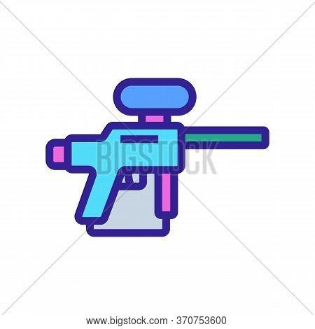 Paintball Gun Icon Vector. Paintball Gun Sign. Isolated Color Symbol Illustration