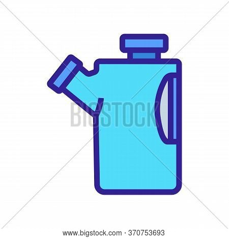 Paintball Canister With Bullets Icon Vector. Paintball Canister With Bullets Sign. Isolated Color Sy