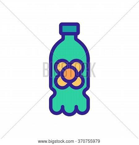 Canola Oil Plastic Bottle Icon Vector. Canola Oil Plastic Bottle Sign. Isolated Color Symbol Illustr