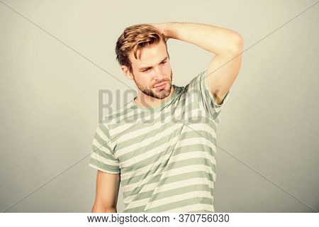 Cool And Trendy. Sexy Macho In Casual Style. Man In Trendy Shirt. Guy Fashion Model. Summer Fashion.