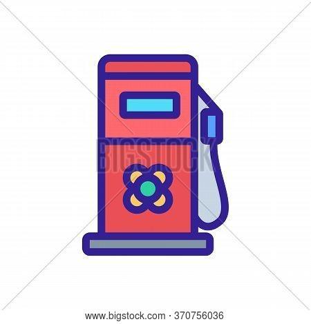 Canola Fuel Station Equipment Icon Vector. Canola Fuel Station Equipment Sign. Isolated Color Symbol
