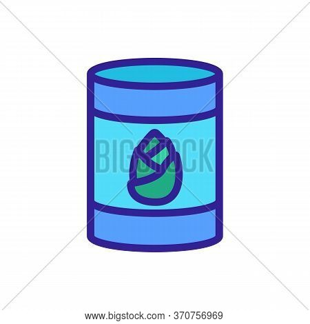 Bamboo Barrel Icon Vector. Bamboo Barrel Sign. Isolated Color Symbol Illustration