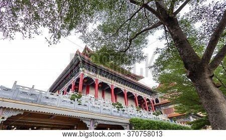Wat Leng Nei Yi 2 Has Beautiful Architecture Of Chinese Temple In Bang Bua Thong, Nonthaburi Provinc