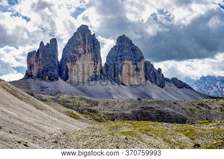 The Tre Cime Di Lavaredo, The Three Peaks Of Lavaredo, In The Sexten Dolomites Of Northeastern Italy