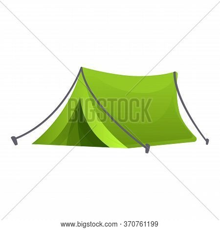 Eco Camping Tent Icon. Cartoon Of Eco Camping Tent Vector Icon For Web Design Isolated On White Back