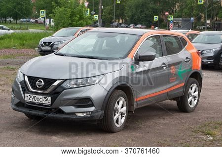 Saint Petersburg, Russia - June 06, 2020: Nissan Qashqai Carsharing Company Youdrive Parked In A Vac