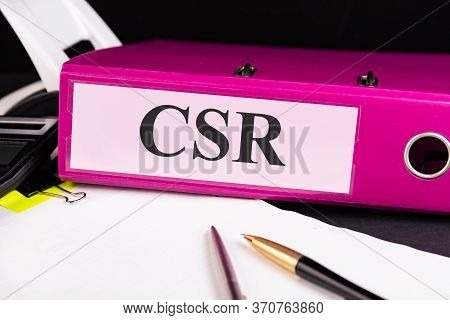 Csr - Corporate Social Responsibility Acronym, Business Concept Background