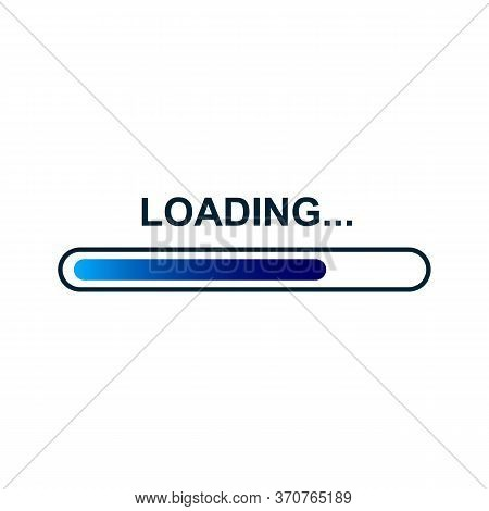 Loading Bar. Loading, Progress. Set Of Load Sign. Uploading Speed Symbol. Update Icon. Installation