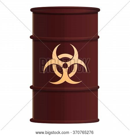 Toxic Barrel Icon. Cartoon Of Toxic Barrel Vector Icon For Web Design Isolated On White Background