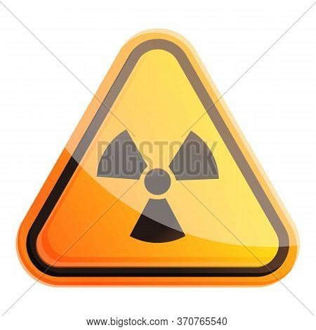 Radiation Sign Icon. Cartoon Of Radiation Sign Vector Icon For Web Design Isolated On White Backgrou