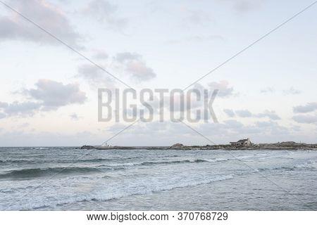 Peaceful Seascape, Fishermen Beach In Punta Del Diablo, Rocha, Uruguay, A Summer Afternoon