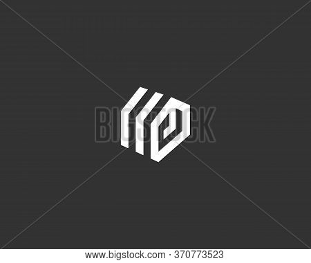 Abstract Construction Building House Geometric Logo Icon Design Modern Illustration. Minimal Real Es