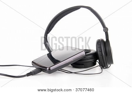 isolated earphone and disk