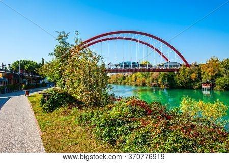 Bridge Through Manavgat River In Manavgat City Centre In Antalya Region In Turkey