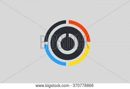 Yellow Orange Blue O Alphabet Letter Logo For Business And Company With Circle Design