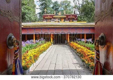 Norbulingka Summer Palade Of Dalai Lama In Lhasa, Tibet, Gate Entrance View