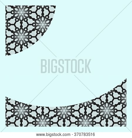 Women Day Background With Frame Flowers, Leafs. 8 March Invitation Card. 8 March Floral Greeting Car