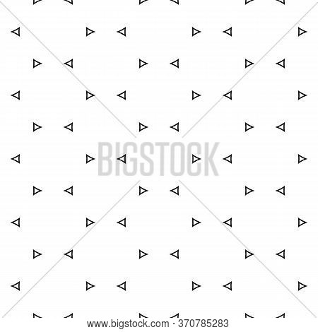 Seamless Surface Pattern Design With Jagged Triangles. Triangular Blocks Wallpaper. Repeated Black G