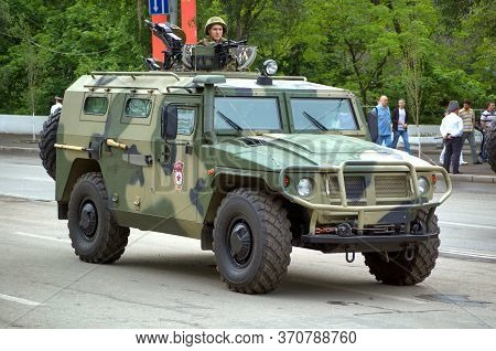 Rostov-on-don, Russia - 9th May 2012: Russian Multi-purpose Vehicle Tigr - Armored Army All-terrain