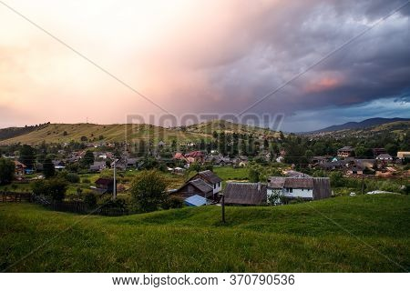 Views Of The Carpathians - This Is A Beautiful Country In The Mountains Of The Carpathians After Sun