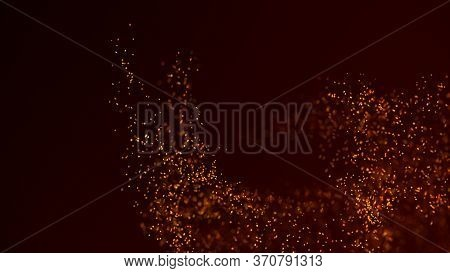 Vortex Of Dust Particles. Abstract Fragments. 3d Rendering