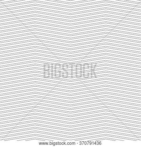 Black Zigzag Lines. Jagged Stripes. Seamless Surface Pattern Design With Triangular Waves Ornament.