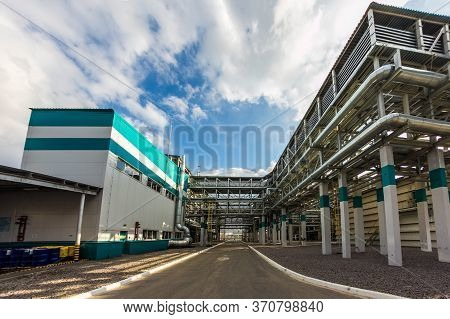 Chemical Factory Production Line Of Thermoplastic. Building Exterior