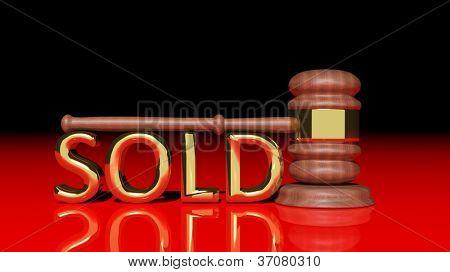 Auktion-Konzept mit hölzernen Hammer