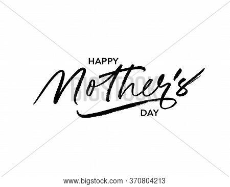 Happy Mother Day Ink Pen Vector Lettering. Parent Congratulations Handwritten Calligraphy. Festive P