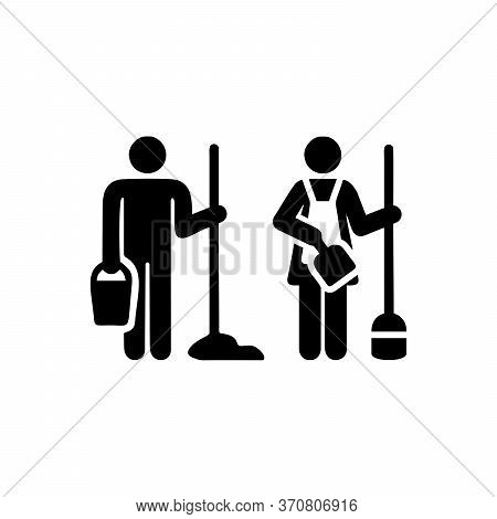 Cleaning Service Symbol For Men And Women, Cleaning Symbol For Business, Office And Laundry, Illustr