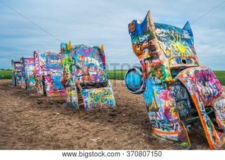 A Public Art Installation And Sculpture In Amarillo, Texas
