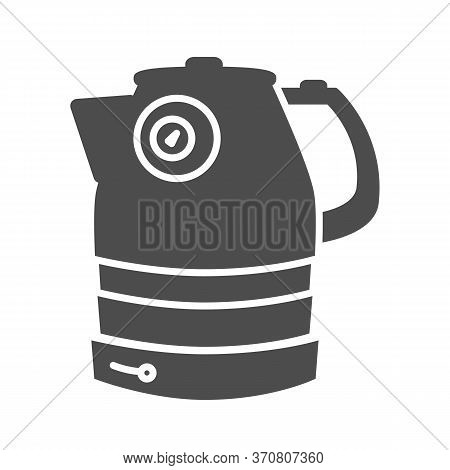 Electric Kettle Solid Icon, Household Appliances Concept, Teakettle Sign On White Background, Electr