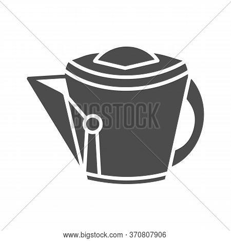 Vintage Kettle Solid Icon, Kitchen Utensils Concept, Teakettle Sign On White Background, Kitchen Tea