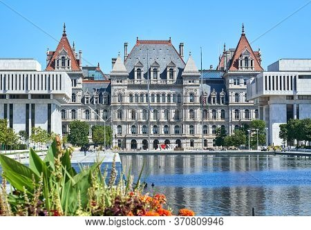 The New York State Capitol Building. The New York State Capitol, The Seat Of The New York State Gove