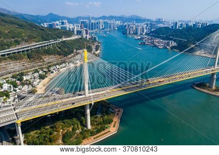 Hong Kong 11 november 2019: Hong Kong Ting Kau Bridge