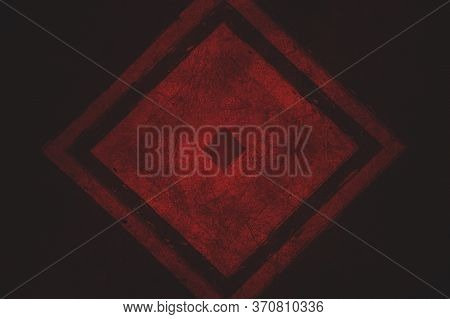 Old Grunge Red Color Abstract Pattern Background