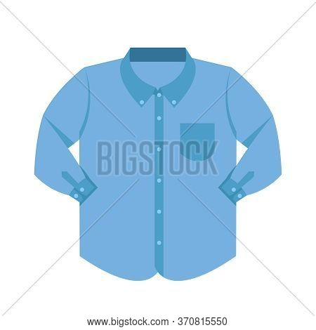 Plain Shirt Clothes Blue Pastel Color Isolated On White, Blue Clothes Pattern Plain Flat Simple, Cli