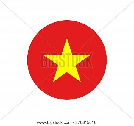 Flag Of Vietnam.original And Simple Vietnam Flag Isolated Vector In Official Colors And Proportion C